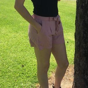 Pants - Pink dress shorts